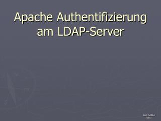 Apache Authentifizierung am LDAP-Server