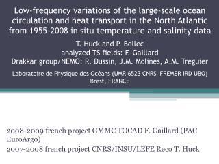 2008-2009 french project GMMC TOCAD F. Gaillard (PAC EuroArgo) 