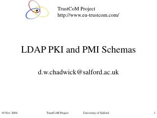 LDAP PKI and PMI Schemas
