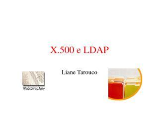 X.500 e LDAP