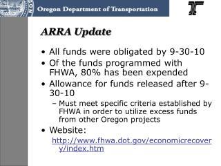 ARRA Update