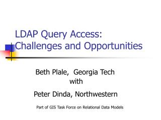 LDAP Query Access:  Challenges and Opportunities
