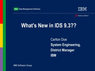 What's New in IDS 9.3??