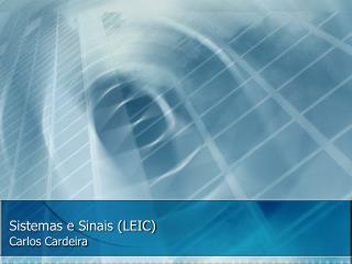 Sistemas e Sinais (LEIC)