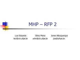 MHP – RFP 2