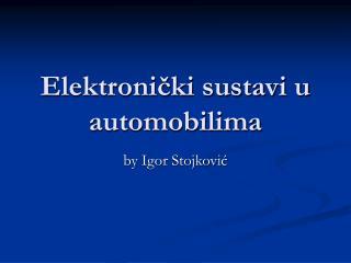 Elektronički sustavi u automobilima