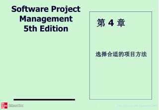 Software Project Management 5 th Edition