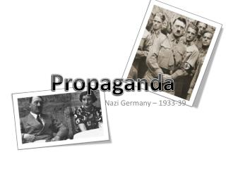 Nazi Germany – 1933-39
