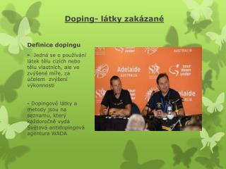 Doping-  látky zakázané