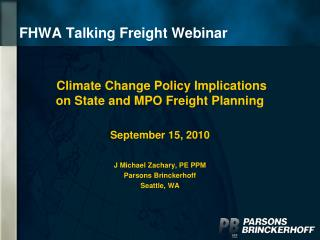 FHWA Talking Freight Webinar