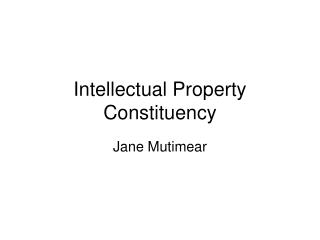 Intellectual Property Constituency