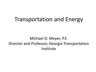 Transportation as a consumer Us versus Them Potential impacts of different strategies