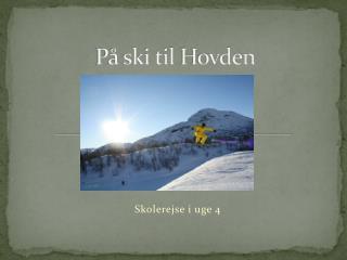 På ski til  Hovden