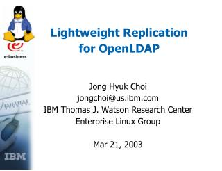 Lightweight Replication for OpenLDAP