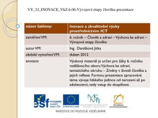VY_32_INOVACE_VkZ.6.06-Vývojové etapy  č lověka-prezentace