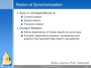 Notion of Synchronization