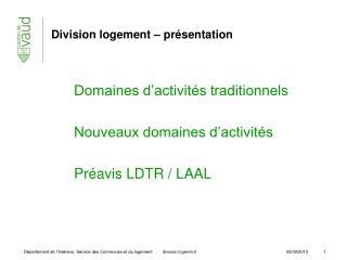Division logement – présentation