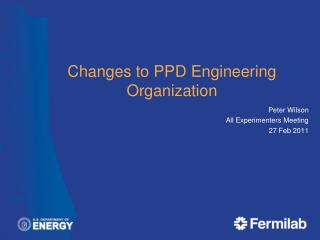 Changes to PPD Engineering Organization