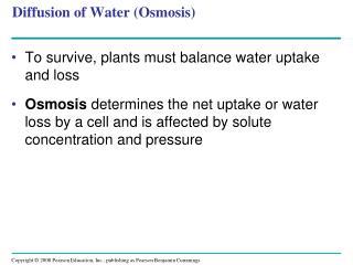 Diffusion of Water (Osmosis)