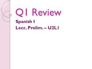 Q1 Review