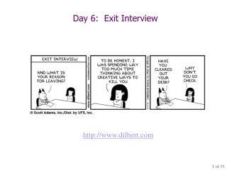 Day 6:  Exit Interview