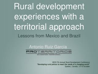 Rural development experiences with a  territorial  approach