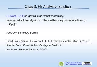 Chap 8. FE Analysis- Solution
