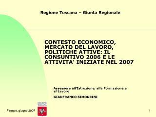 Regione Toscana – Giunta Regionale