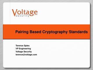Pairing Based Cryptography Standards