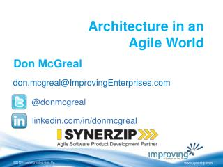 Architecture in an  Agile World