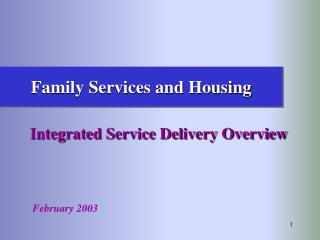 Family Services and Housing