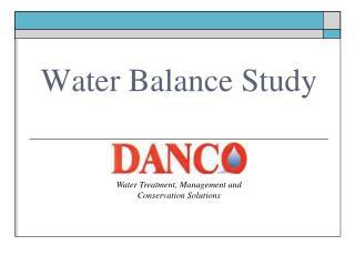 Water Balance Study