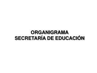 ORGANIGRAMA SECRETARÍA DE EDUCACIÓN