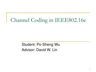Channel Coding in IEEE802.16e