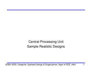 Central Processing Unit Sample Realistic Designs