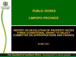 PUBLIC WORKS LIMPOPO PROVINCE