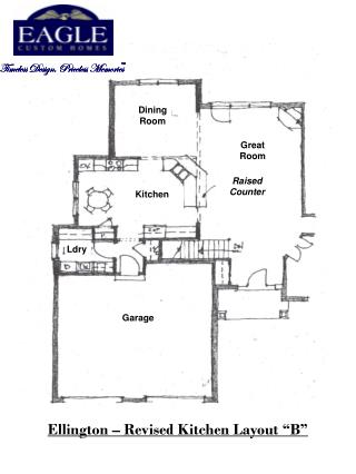 "Ellington – Revised Kitchen Layout ""B"""