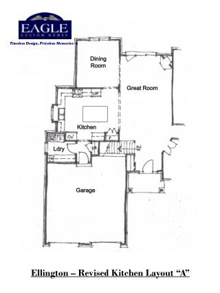"Ellington – Revised Kitchen Layout ""A"""