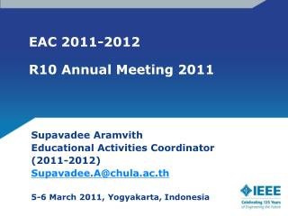 EAC 2011-2012 R10 Annual Meeting 2011