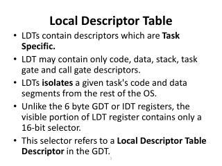 Local Descriptor Table