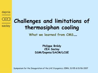 The thermosiphon principle (example of two phase ) Self sustained natural boiling convection