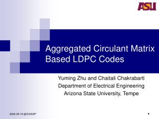 Aggregated Circulant Matrix Based LDPC Codes