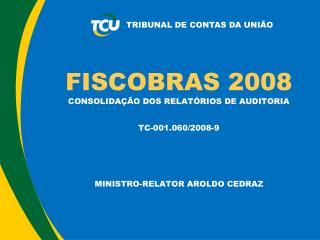 FISCOBRAS 2008 CONSOLIDAÇÃO DOS RELATÓRIOS DE AUDITORIA  TC-001.060/2008-9