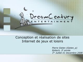 Conception et réalisation de sites Internet de jeux et loisirs