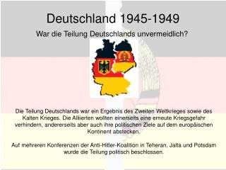 Deutschland 1945-1949