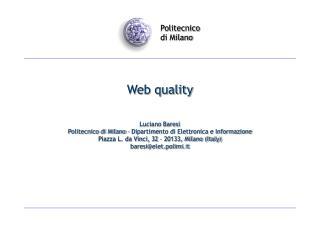 Web quality