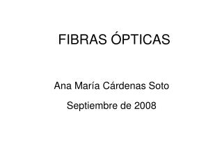 FIBRAS  PTICAS