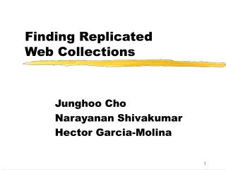 Finding Replicated Web Collections