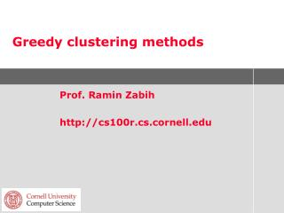 Greedy clustering methods