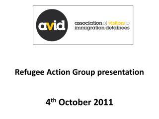 Refugee Action Group presentation